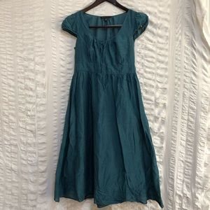 Banana Republic Dark Teal Peasant Dress